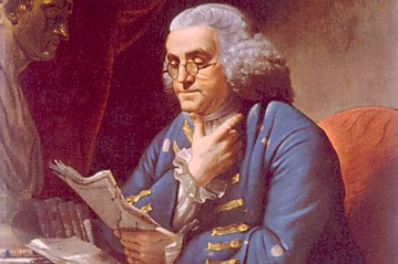 Everett Benjamin Franklin (1706-1790), portrait by David Martin, 1767