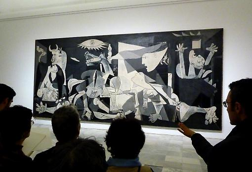 Picasso's 'Guernica' on view at the Reina Sofia museum in Madrid. Photo: Getty