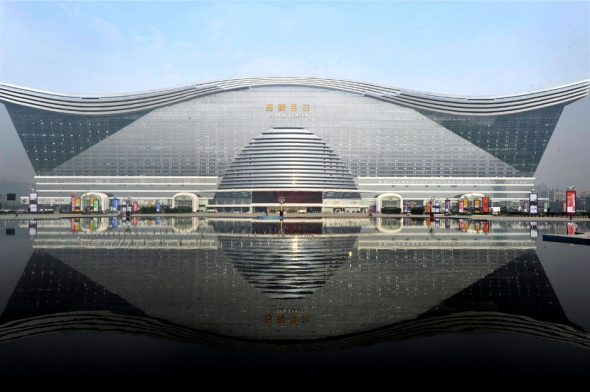 """New Century Global Centre"" building in Chengdu, southwest China's Sichuan province. /AFP/Getty Images"