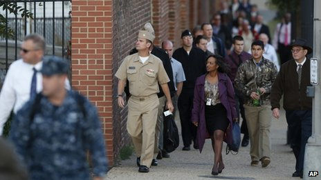 Personnel returned to work at the Washington Navy Yard on Thursday