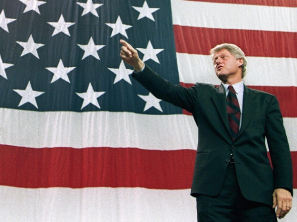 Democratic presidential candidate Bill Clinton in 1992. AFP/Getty Images