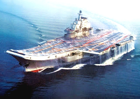 The new Liaoning aircraft carrier. Home to China's J-15 Flying Sharks.