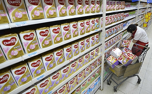 French food group Danone says it is investigating Chinese state TV allegations that it bribed hospital staff to give its milk powder to new-born babies. Photo: Reuters