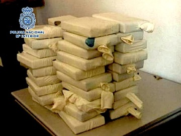 Policía Nacional The cocaine seized by Spanish police.