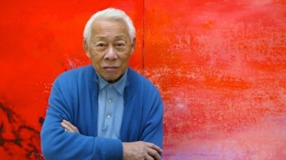 Franco-Chinese-painter-Zao-Wou-Ki-poses-in-his-workshop-in-Paris-on-November-6-2003.-AFP