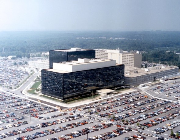 """THE  SPOOK SHACK"" NSA headquarters. Photo: Wikimedia Commons"