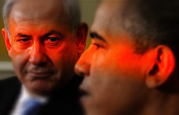 President Barack Obama meets with Prime Minister Benjamin Netanyahu of Israel. (AP Photo/Charles Dharapak)