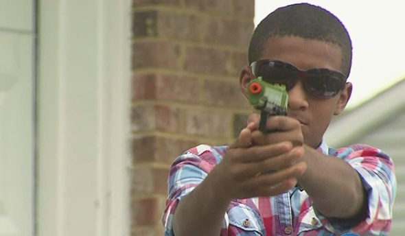 Children in Virginia Beach are suspended from school for playing with an airsoft gun at home.