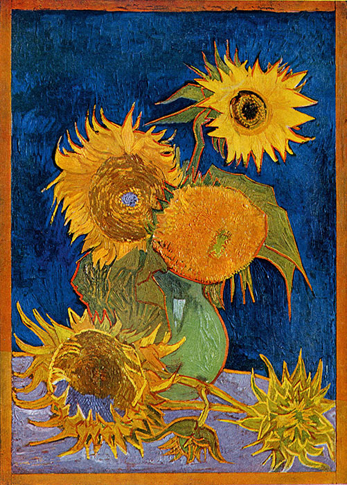 Van Gogh: Six Sunflowers, 1888, oil on canvas. Photograph: Mushakoji Saneatsu Memorial Museum