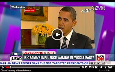 """Obama's style of leadership does not engage Arab leaders, and does not address regional issues, like Egypt"""