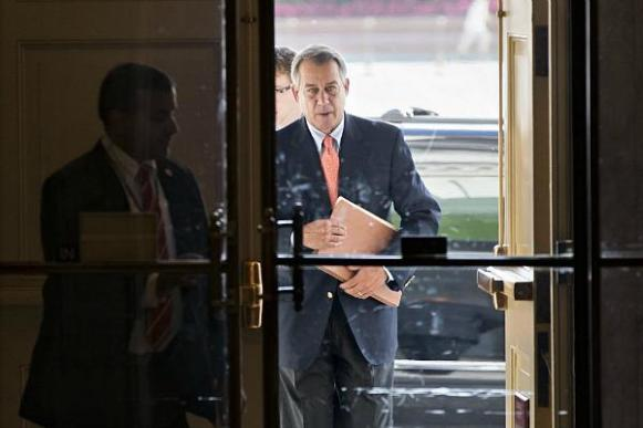 Speaker of the House John Boehner arrives at the Capitol