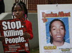 The beating death of Derrion Albert captured national attention last September.
