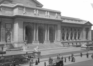 The library's iconic Main Building at Fifth Avenue and 42nd Street. THE MUSEUM OF THE CITY OF NEW YORK/ART RESOURCE