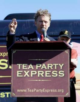 The election of Tea Party conservatives like Rand Paul indicated the end of K Street's stronghold on the GOP. (AP Photo/Ed Reinke)