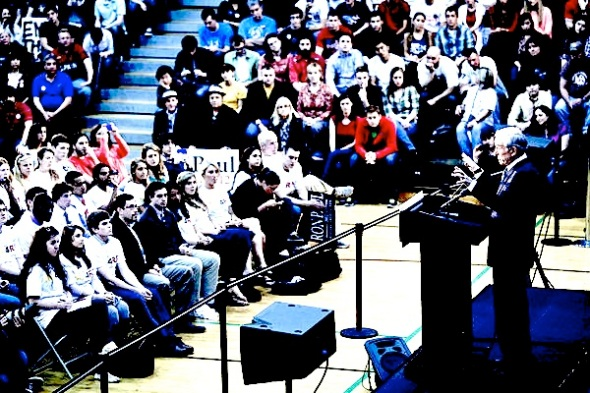 Republican Presidential Candidate Ron Paul Attends Townhall Meeting At U. Of Maryland