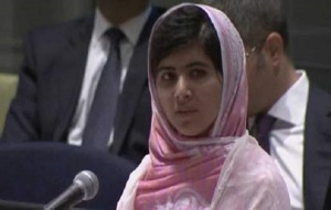 Malala addressed the United Nations in July on her 16th birthday