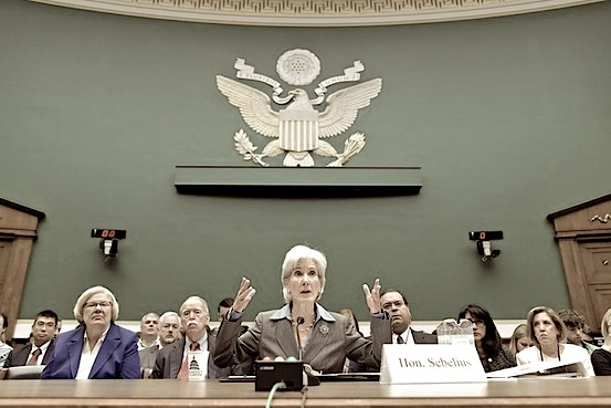 Kathleen Sebelius at the House Energy and Commerce Committee, Oct. 30. Associated Press