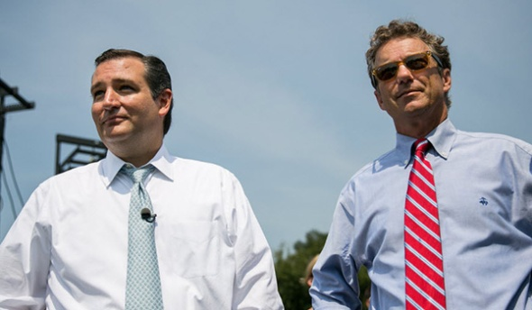 Senators Ted Cruz (left) and Rand Paul