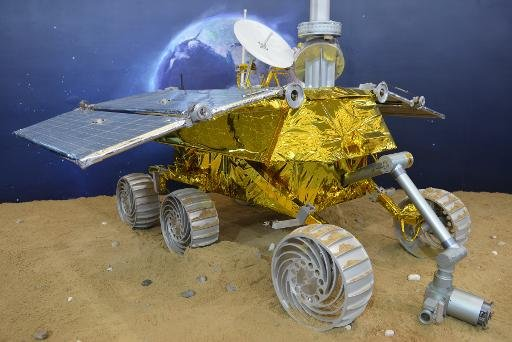 China unveils a model of a lunar rover at the China International Industry Fair 2013 in Shanghai, on November 5, 2013China unveils a model of a lunar rover at the China International Industry Fair 2013 in Shanghai, on November 5, 2013