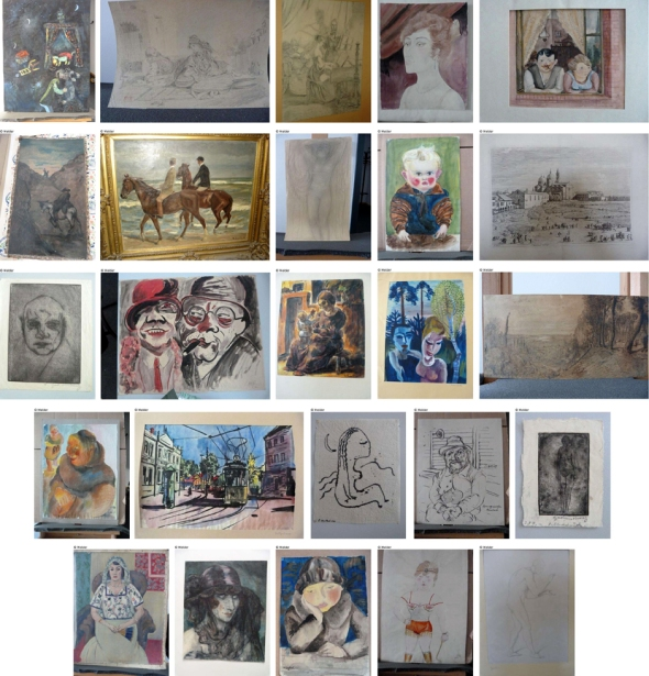 Handout photos made available by German prosecutors on the German Federal official website www.lostart.de shows 25 paintings found in a Munich apartment. CLICK TO ENLARGE.