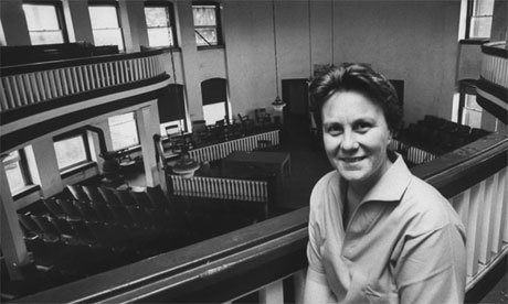 Harper Lee in the Monroeville courthouse. Photograph: Donald Uhrbrock/Time & Life Pictures/Getty Images