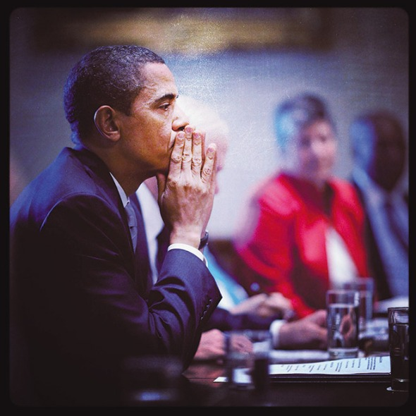 President Barack Obama reflects during a meeting with his full Cabinet in the Cabinet Room of the White House, Sept. 10, 2009. (Official White House Photo by Pete Souza)