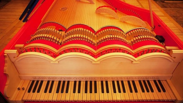 he viola organista's strings are played in the same way as a cello. Photo: Tomasz Wiech/AFP