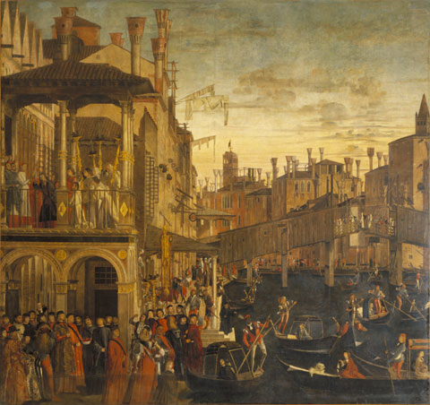 CAMERAPHOTO ARTE, VENICE/ART RESOURCE, NY Opening a window onto the Venetian past: Carpaccio's The Healing of the Madman.