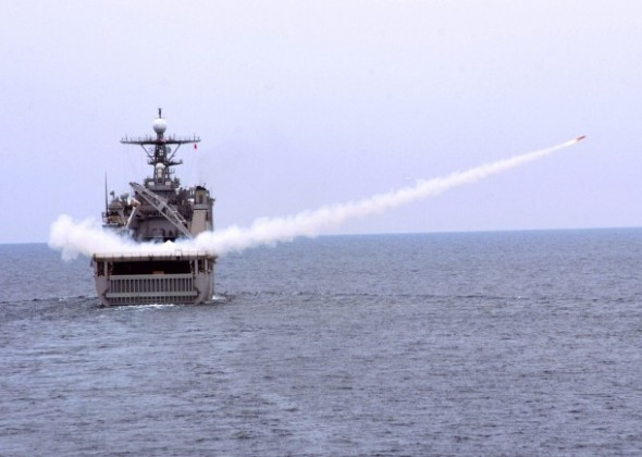 U.S. Navy exercises last week in the South China Sea (Naval Surface Forces)