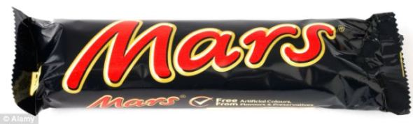 Touching the limit: A single Mars bar contains five teaspoons of sugar