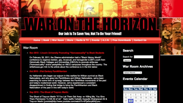 War on the Horizon, the website run by former DHS employee Ayo Kimathi.