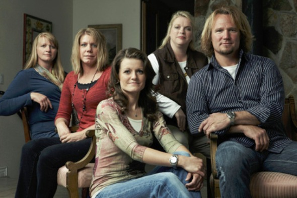 "Joe Pugliese | Courtesy TLC Kody Brown, right, with ""sister wives"" Christine, left, Meri, Robyn and Janelle. The Brown family says Utah's bigamy statute is unconstitutional and is suing the state."