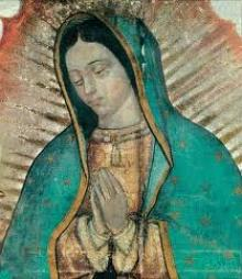 Image of Our Lady of Guadalupe, patroness of the Americas and the unborn, who is honored on Dec. 12 by the Catholic Church, and particularly in Mexico City, Mexico.