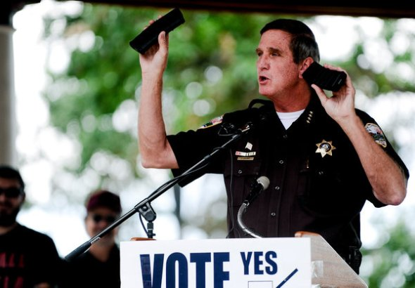 Michael Ciaglo/The Colorado Springs Gazette, via Associated PressJohn Cooke is among the Colorado sheriffs who are resisting enforcement of new state gun laws.