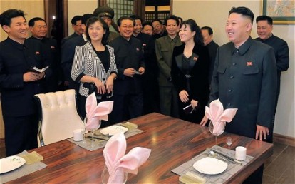 Kim Jong-Un and his wife Ri Sol-Ju visiting the Haedanghwa Health Complex (AFP)