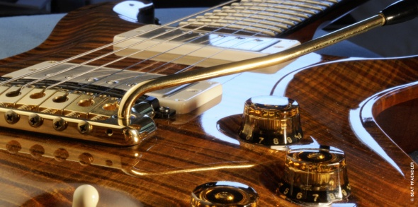 One of John McLaughlin's custom guitars