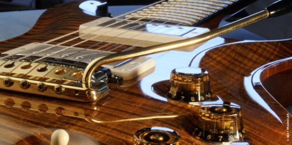 One of John McLaughlin's custom guitars