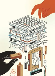 Enthusiasts of the maker movement foresee a third industrial revolution. Illustration by Harry Campbell.