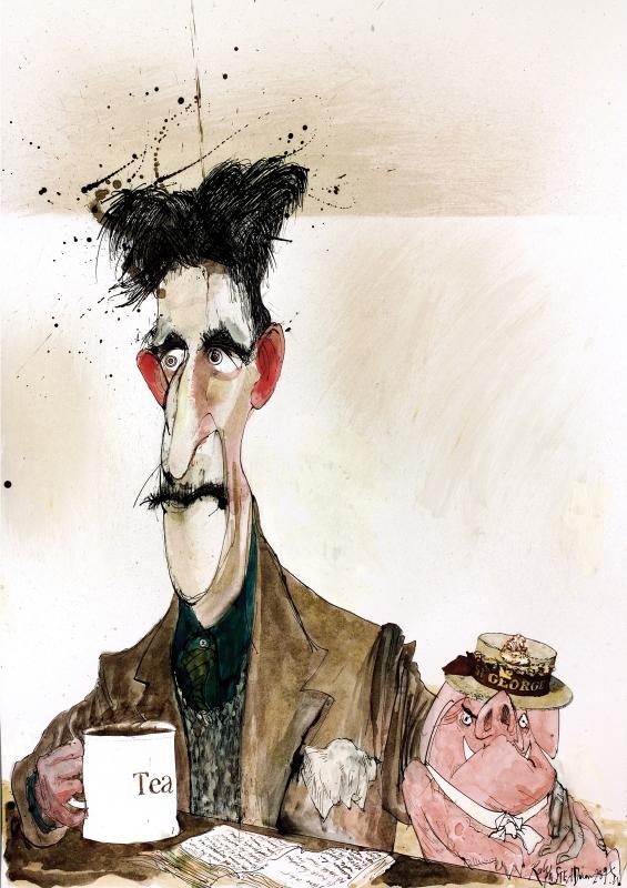 George Orwell illustrated by Ralph Steadman