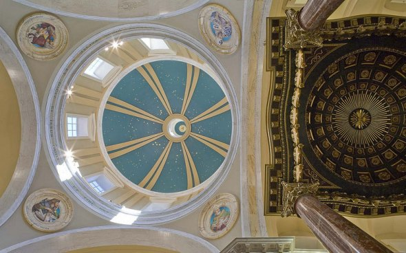 The ceiling of the Stroik-designed Shrine of Our Lady of Guadalupe in LaCrosse, Wisconsin.  Duncan Stroik/www.stroik.com