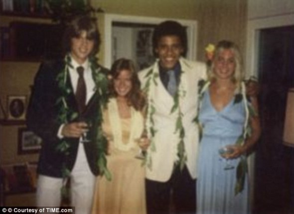 Experiments: Obama, 18, who was only just beginning to explore his black roots – having been brought up by his white grandparents – was a leading member of a group called the Choom Gang