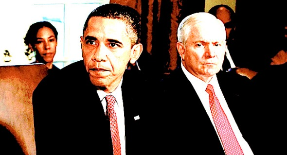 President Barack Obama, and Secretary of Defense Robert Gates(AP Photo/J. Scott Applewhite)