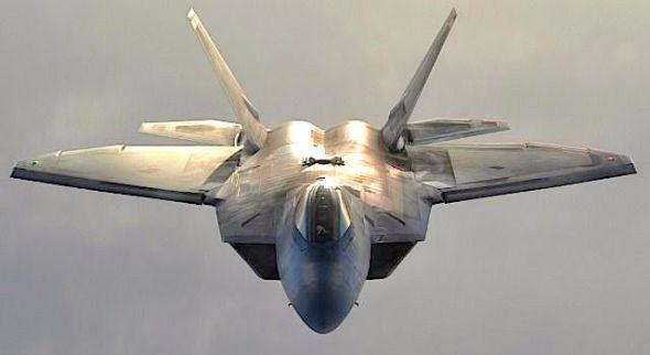 An F-22 fighter jet (U.S. Air Force)