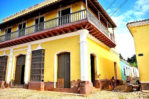 Yellow building Trinidad