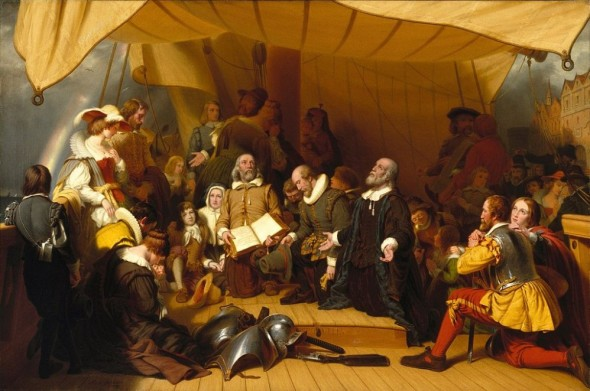 1024px-Brooklyn_Museum_-_Embarkation_of_the_Pilgrims_-_Robert_Walter_Weir_-_overall-998x662