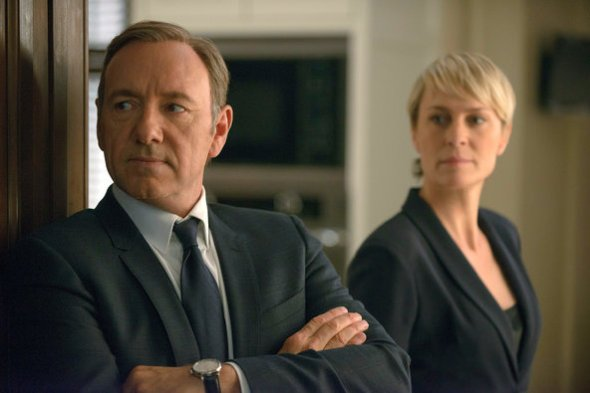 Nathaniel E. Bell/Netflix, via Associated Press Kevin Spacey as the ruthless American politician Francis Underwood with Robin Wright as his wife, Claire. Nathaniel E. Bell/Netflix, via Associated Press