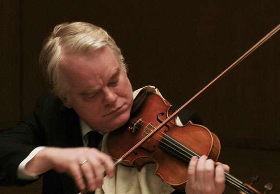 Philip Seymour Hoffmann as Robert Gelbart in A Late Quartet.