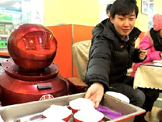 Chinese-Robot-Serves-Rice-AFP