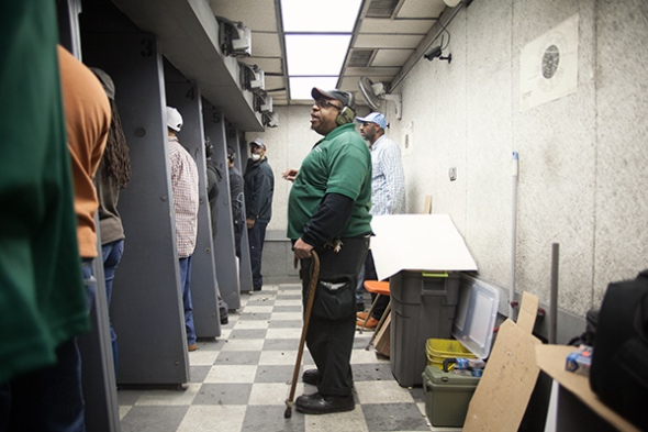 Participants in Vernon's two-day conceal-and-carry course spend a full day in the classroom before heading to the firing range. JOHN STURDY