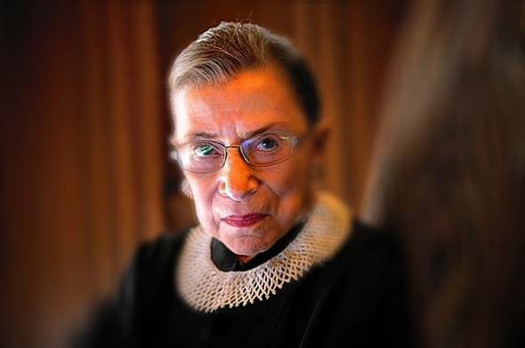 Justice Ruth Bader Ginsburg wrote the dissent in the police search case. (Nikki Kahn / Getty Images / August 29, 2013)